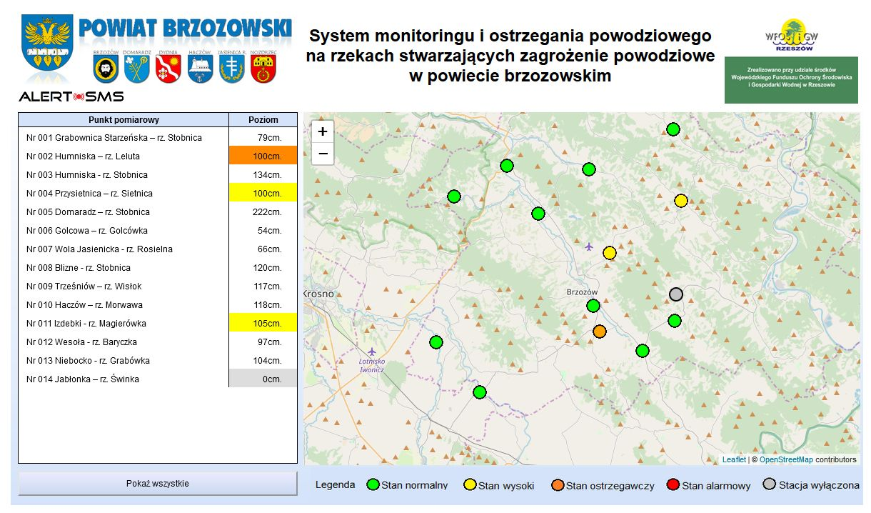 Stan na godzinę 09:00 / grafika: Powiat Brzozowski