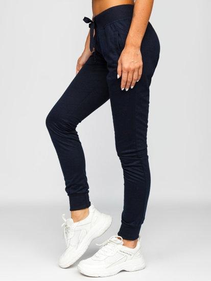 Granatowe spodnie dresowe damskie