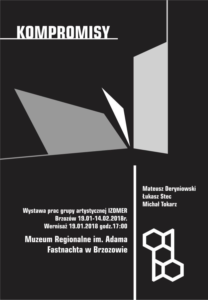 Kompromisy - plakat na wernisaż i wystawę