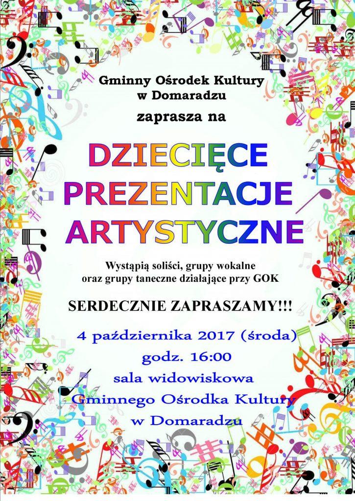 Plakat prezentacje artystyczne 2017