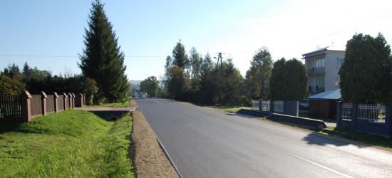 Zakończono remont odcinków drogi wojewódzkiej w Jabłonce i Niebocku (ZDJĘCIA)
