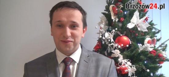 Życzenia noworoczne burmistrza Brzozowa Szymona Stapińskiego (VIDEO)