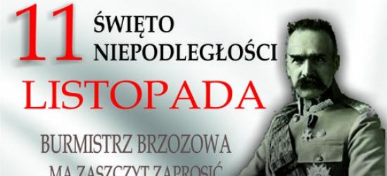 BRZOZÓW: 98. rocznica odzyskania niepodległości przez Polskę. Obchody 11 listopada