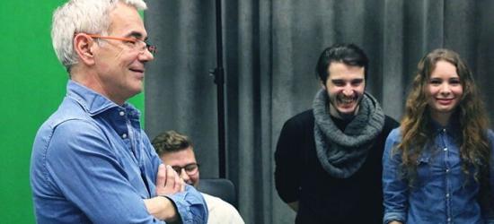 Robert Janowski pokazał studentom jak być sobą przed kamerą (ZDJĘCIA)