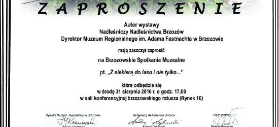 """Brzozowskie Spotkanie Muzealne """"Z siekierą do lasu i nie tylko…"""""""