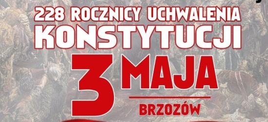 Obchody 228 Rocznicy Uchwalenia Konstytucji 3 Maja w Brzozowie (PROGRAM)