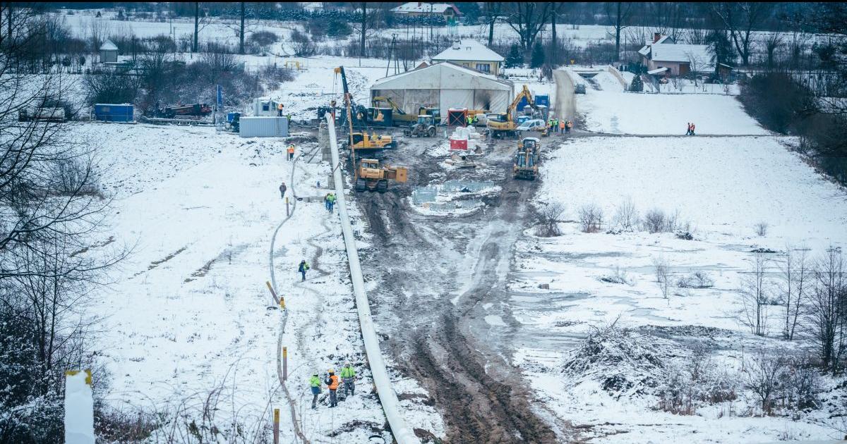 GMINA DYDNIA: Strategiczny gazociąg. 30 procent nitki już jest w ziemi (ZDJĘCIA)