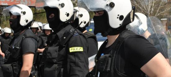 Policjanci z Podkarpacia w akcji na stadionie Polonii Przemyśl (ZDJĘCIA)