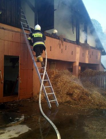 Trzy pożary. Najpierw domu, potem budynku gospodarczego i sadzy w kominie. Strażacy mieli pełne ręce roboty (ZDJĘCIA)