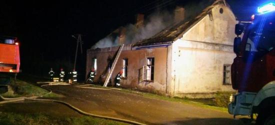 Pożar budynku mieszkalnego. Zginął mężczyzna (ZDJĘCIA)