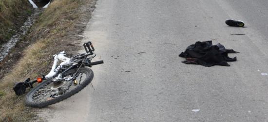 Potrącenie rowerzystki. 17-latka ma poważne obrażenia