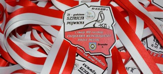 24-godzinna sztafeta pływacka podczas Święta Niepodległości w Brzozowie (ZDJĘCIA)