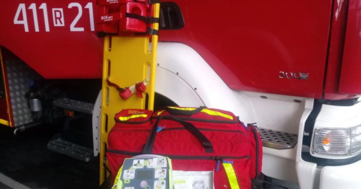 Nocna akcja ratunkowa strażaków
