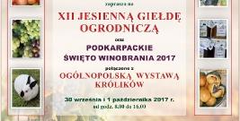 XII Jesienna Giełda Ogrodnicza oraz Podkarpackie Święto Winobrania 2017