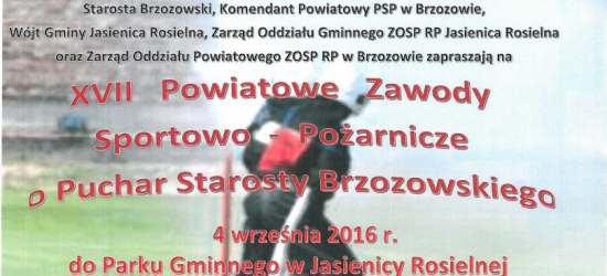 XVII Powiatowe Zawody Sportowo-Pożarnicze o Puchar Starosty Brzozowskiego