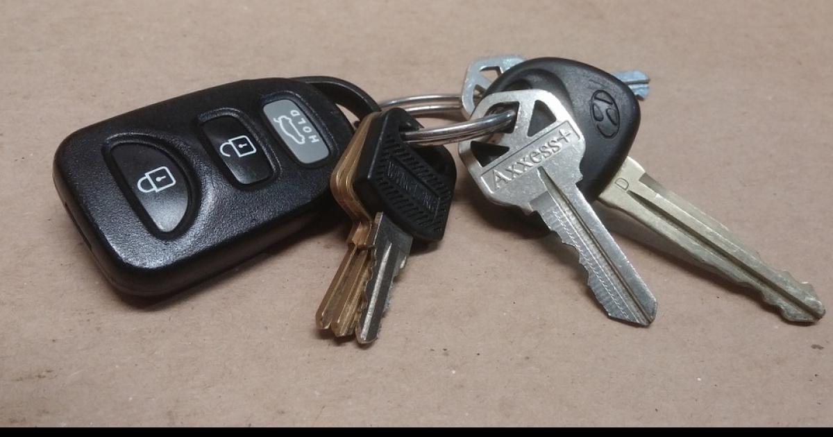 Znaleziono kluczyki do samochodu