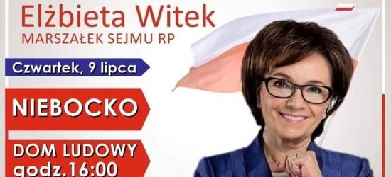 DZISIAJ: Marszałek Sejmu RP Elżbieta Witek w Niebocku oraz w Brzozowie
